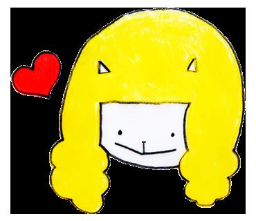 ユルユル猫イラスト満載!キュートな髪型でHAPPY気分な「かつら猫」スタンプ☆