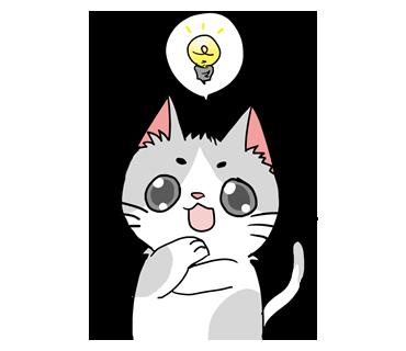 くるんと大きな瞳で愛キュートさ満点!色んな人に使える愛される「ぶち猫」スタンプ☆