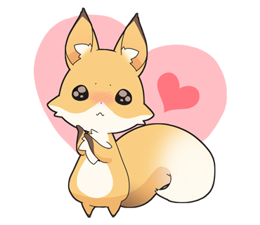 ふわふわラブリーなイラストで愛され度抜群!気になる人に使いたい「Girly fox」スタンプ☆