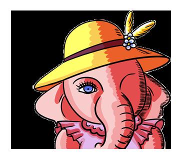優雅でゴージャスな雰囲気たっぷり♪リッチな気分に浸れる「象夫人」スタンプ☆